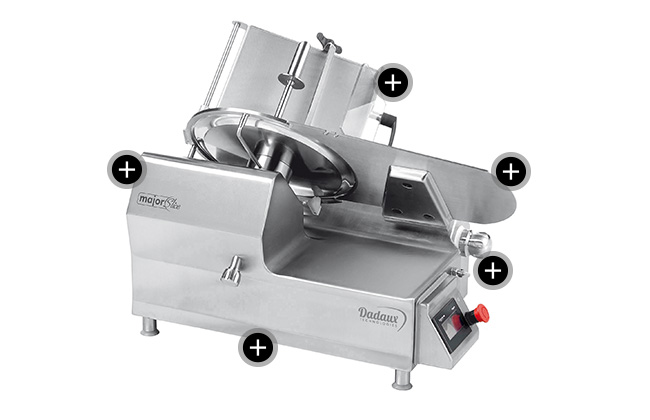 Ham slicer Dadaux Gastrotech Major Slice 350 semi auto
